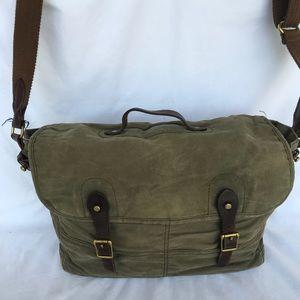 J. Crew olive green messenger bag